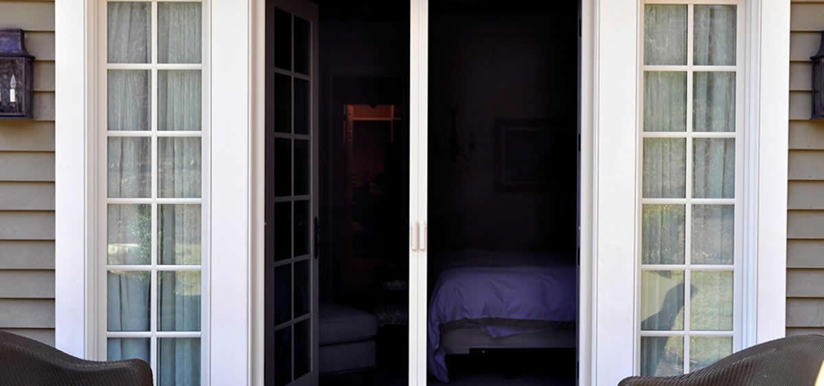 Retractable screen door double door plisse retractable for Double wide french doors