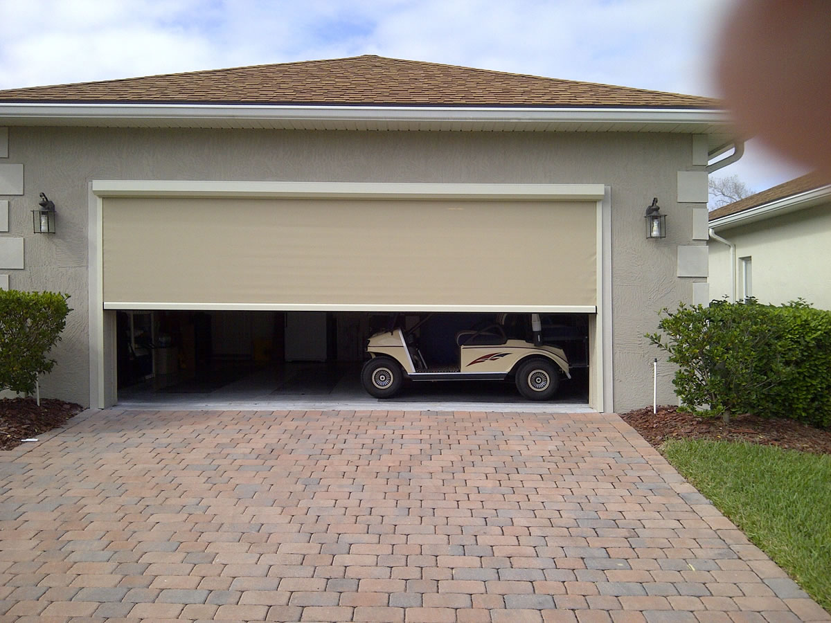 Retractable garage door - Motorized Retractable Solar Screens For Patios Windows And Doors Palm Coast Fl