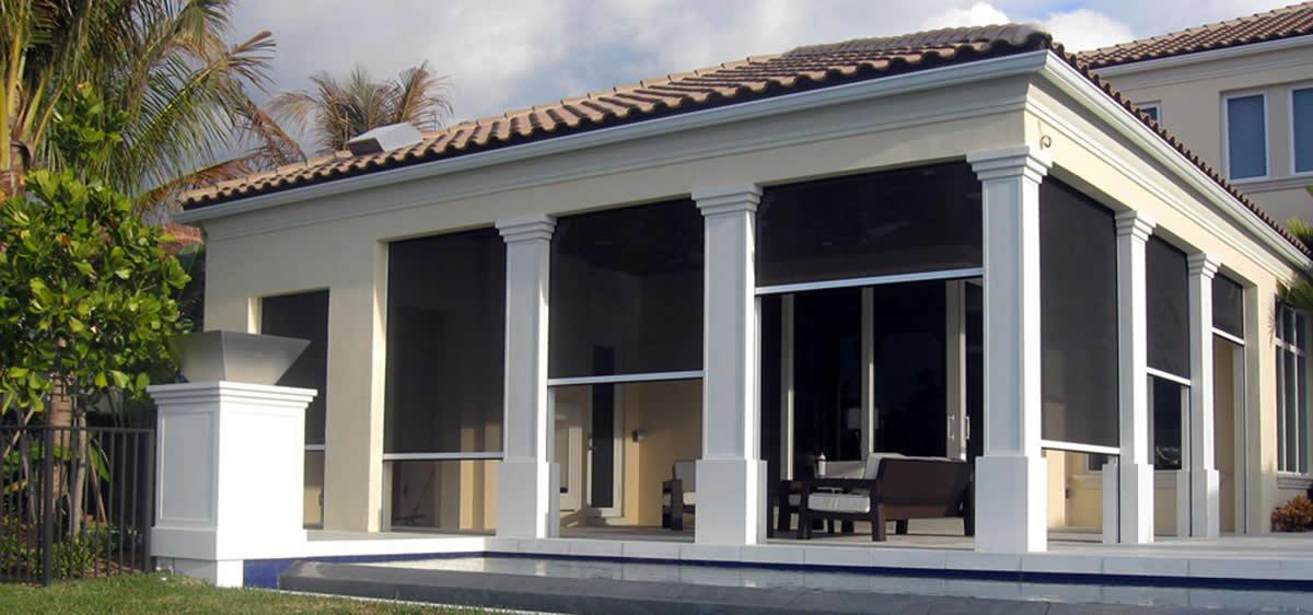 Motorized Retractable Solar Screens For Patios, Windows And Doors   Palm  Coast, FL