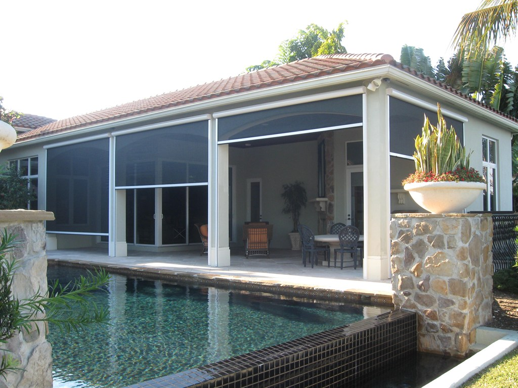 Motorized Retractable Solar Screens For Patios, Windows And Doors   Palm  Coast, FL