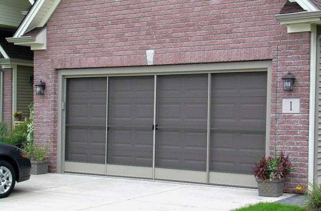 Sliding garage door screens from killian 39 s of palm coast fl for Sliding garage doors