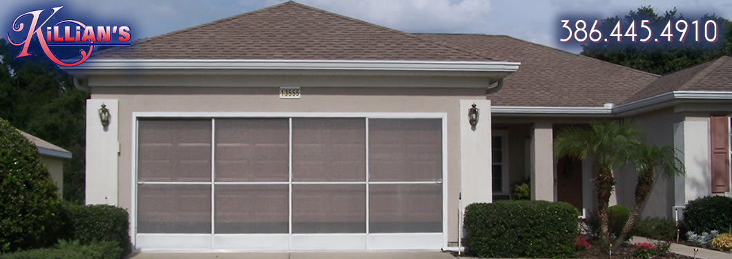 screened in garage doorPatio Screens Garage Screens and Gutters from Killians